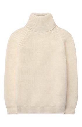 Детский шерстяной свитер DAL LAGO молочного цвета, арт. W532/9117/1-6 | Фото 1 (Рукава: Длинные; Материал внешний: Шерсть; Мальчики Кросс-КТ: Пуловер-одежда; Ростовка одежда: 16 лет | 164 см)