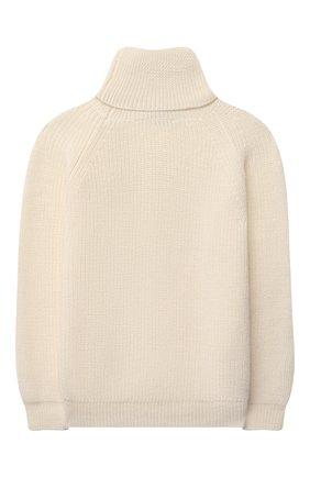 Детский шерстяной свитер DAL LAGO молочного цвета, арт. W532/9117/1-6 | Фото 2 (Рукава: Длинные; Материал внешний: Шерсть; Мальчики Кросс-КТ: Пуловер-одежда; Ростовка одежда: 16 лет | 164 см)