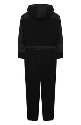 Детский хлопковый комбинезон BURBERRY черного цвета, арт. 8040834   Фото 2