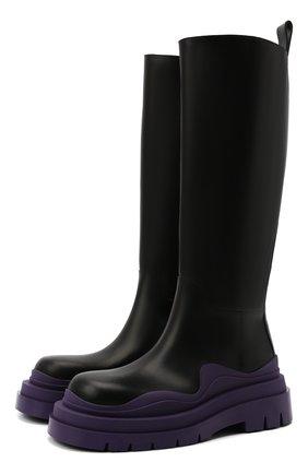 Женские кожаные сапоги bv tire BOTTEGA VENETA фиолетового цвета, арт. 667917/VBS50 | Фото 1