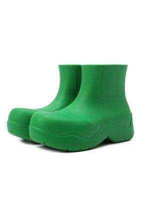 Мужские резиновые сапоги puddle BOTTEGA VENETA зеленого цвета, арт. 640043/V00P0 | Фото 1