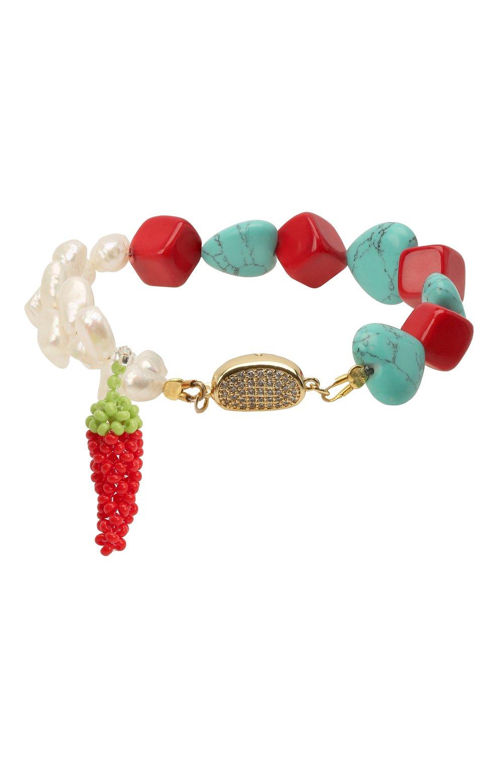 Женский браслет перец HIAYNDERFYT разноцветного цвета, арт. 1-2CTQRWP | Фото 2 (Материал: Стекло)