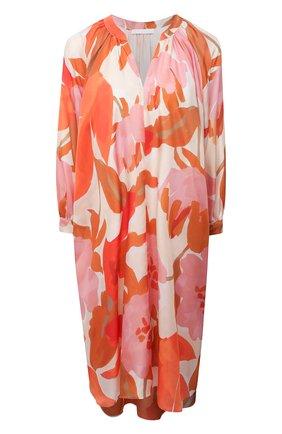 Женское шелковое платье BOSS оранжевого цвета, арт. 50447645 | Фото 1