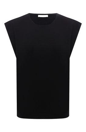 Женская хлопковая футболка BOSS черного цвета, арт. 50448901 | Фото 1
