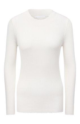 Женский пуловер из вискозы и хлопка BOSS белого цвета, арт. 50453071 | Фото 1