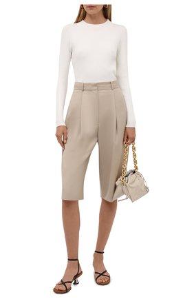 Женский пуловер из вискозы и хлопка BOSS белого цвета, арт. 50453071 | Фото 2