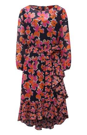Женское платье из хлопка и шелка HUGO разноцветного цвета, арт. 50452608 | Фото 1