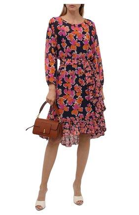 Женское платье из хлопка и шелка HUGO разноцветного цвета, арт. 50452608 | Фото 2