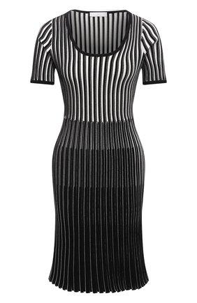 Женское платье из вискозы BOSS черно-белого цвета, арт. 50453064 | Фото 1