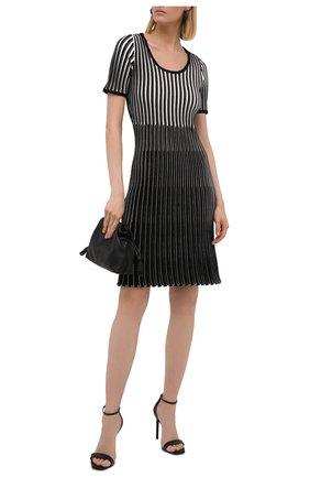 Женское платье из вискозы BOSS черно-белого цвета, арт. 50453064 | Фото 2