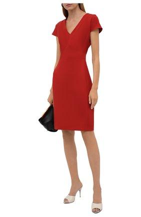 Женское платье BOSS красного цвета, арт. 50453558 | Фото 2