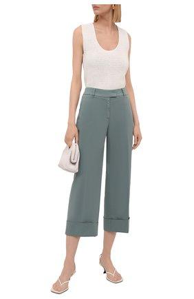 Женские хлопковые брюки BOSS зеленого цвета, арт. 50453645 | Фото 2
