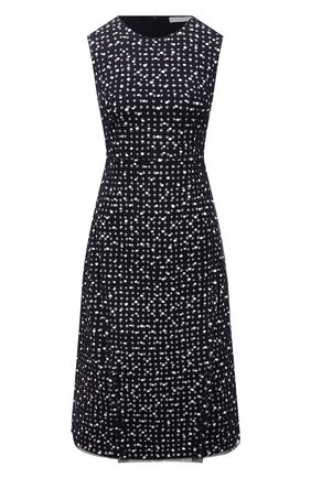 Женское платье из вискозы BOSS синего цвета, арт. 50454467 | Фото 1