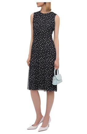 Женское платье из вискозы BOSS синего цвета, арт. 50454467 | Фото 2
