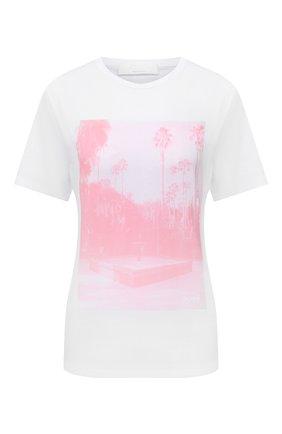 Женская хлопковая футболка BOSS белого цвета, арт. 50453400 | Фото 1