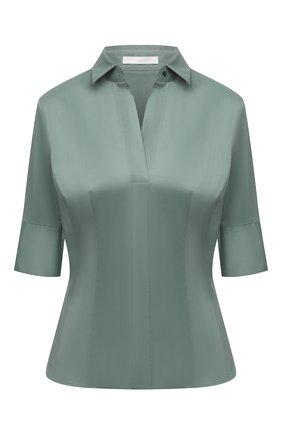 Женская блузка BOSS зеленого цвета, арт. 50454598 | Фото 1