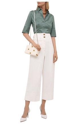 Женская блузка BOSS зеленого цвета, арт. 50454598 | Фото 2