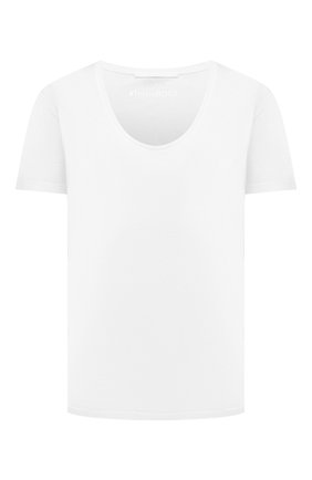 Женская хлопковая футболка BOSS белого цвета, арт. 50455094 | Фото 1