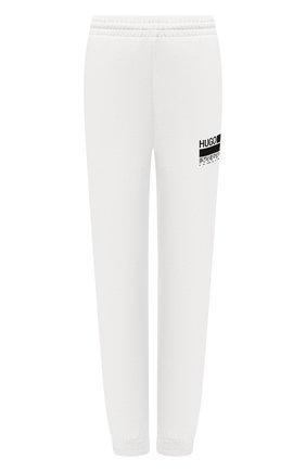 Женские хлопковые джоггеры HUGO белого цвета, арт. 50456018 | Фото 1