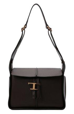 Женская сумка tsb TOD'S коричневого цвета, арт. XBWTSBY0200QMK   Фото 1 (Материал: Натуральная кожа; Размер: medium; Сумки-технические: Сумки top-handle)