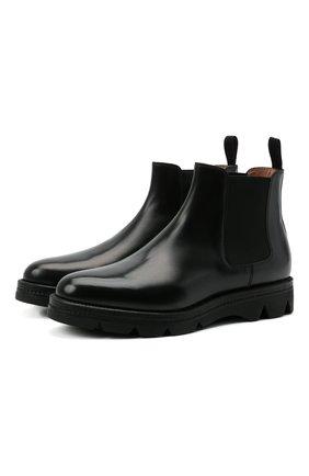 Женские кожаные ботинки SANTONI черного цвета, арт. WTUD55806SM0NLESN01 | Фото 1