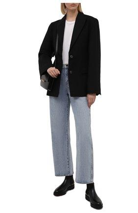Женские кожаные ботинки SANTONI черного цвета, арт. WTUD55806SM0NLESN01 | Фото 2