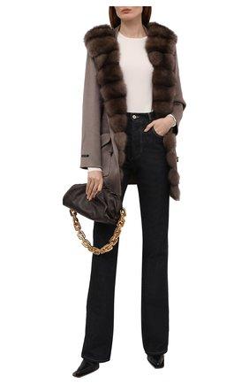 Женское кашемировое пальто MANZONI24 коричневого цвета, арт. 21M324-WS1Z/38-46   Фото 2