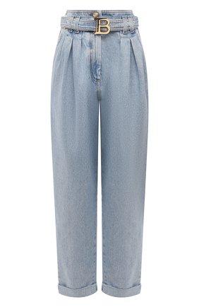 Женские джинсы BALMAIN голубого цвета, арт. WF1MH021/D138   Фото 1
