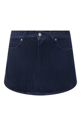 Женская юбка-шорты REDVALENTINO темно-синего цвета, арт. WR3DD04J/62N   Фото 1 (Материал внешний: Хлопок; Длина Ж (юбки, платья, шорты): Мини; Стили: Гламурный; Женское Кросс-КТ: Юбка-одежда)