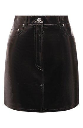 Женская кожаная юбка HELMUT LANG черного цвета, арт. L05HW304 | Фото 1