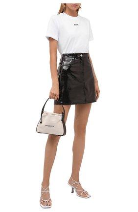 Женская кожаная юбка HELMUT LANG черного цвета, арт. L05HW304 | Фото 2