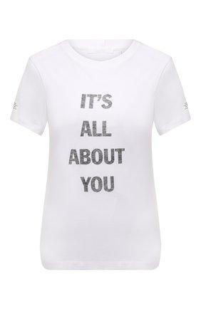 Женская хлопковая футболка HELMUT LANG белого цвета, арт. L05HW510 | Фото 1