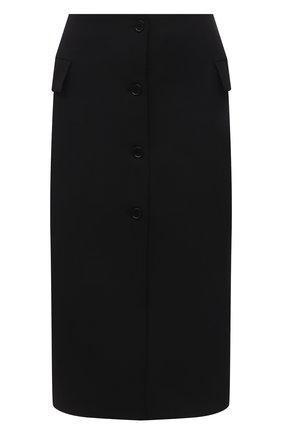 Женская юбка MSGM черного цвета, арт. 3141MDD26 217602   Фото 1 (Материал внешний: Синтетический материал; Материал подклада: Синтетический материал; Длина Ж (юбки, платья, шорты): Миди; Стили: Гламурный; Женское Кросс-КТ: Юбка-одежда)
