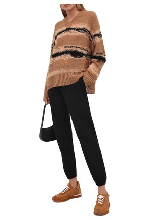 Женские хлопковые джоггеры MSGM черного цвета, арт. 3141MDP65 217799   Фото 2 (Длина (брюки, джинсы): Стандартные; Материал внешний: Хлопок; Стили: Спорт-шик; Женское Кросс-КТ: Джоггеры - брюки, Брюки-спорт; Силуэт Ж (брюки и джинсы): Джоггеры; Кросс-КТ: Трикотаж)