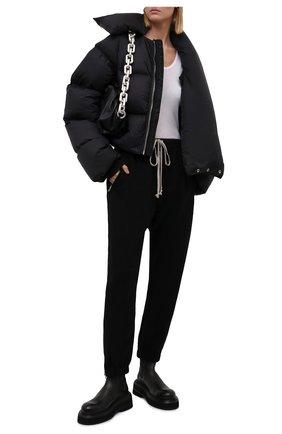 Женские джоггеры из хлопка и шерсти RICK OWENS черного цвета, арт. RP02A7313/WCF   Фото 2