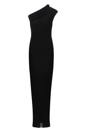 Женское кашемировое платье RICK OWENS черного цвета, арт. RP02A7627/RIBWS   Фото 1