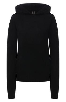 Женский кашемировое худи RICK OWENS черного цвета, арт. RP02A7685/WSBR   Фото 1