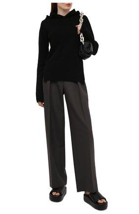 Женский кашемировое худи RICK OWENS черного цвета, арт. RP02A7685/WSBR   Фото 2