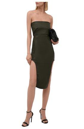 Женское платье RICK OWENS зеленого цвета, арт. RP02A7515/LS   Фото 2