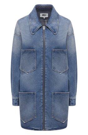 Женская джинсовая куртка MM6 голубого цвета, арт. S52AM0166/S30589   Фото 1