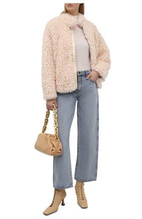 Женская куртка MM6 кремвого цвета, арт. S52AM0169/S53958   Фото 2