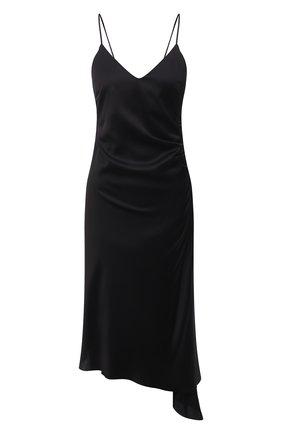 Женское платье из вискозы MM6 черного цвета, арт. S52CT0545/S53888 | Фото 1
