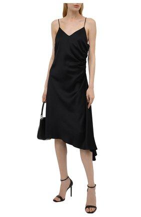 Женское платье из вискозы MM6 черного цвета, арт. S52CT0545/S53888   Фото 2