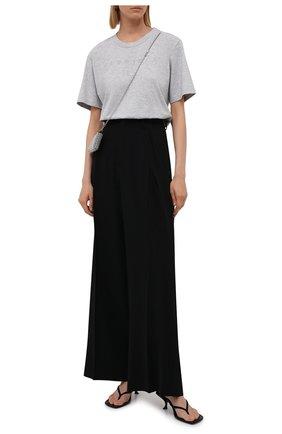Женская хлопковая футболка MM6 серого цвета, арт. S52GC0212/S23588   Фото 2