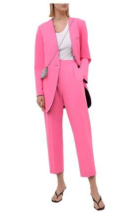 Женские брюки MM6 розового цвета, арт. S52KA0311/S53962   Фото 2