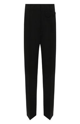 Женские брюки MM6 черного цвета, арт. S52KA0313/S53962   Фото 1