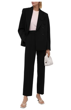 Женские брюки MM6 черного цвета, арт. S52KA0313/S53962   Фото 2