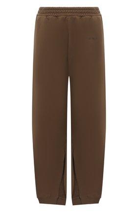Женские хлопковые брюки MM6 хаки цвета, арт. S52KA0315/S25337   Фото 1