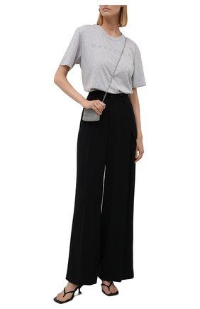 Женские брюки MM6 черного цвета, арт. S52KA0326/S53960   Фото 2