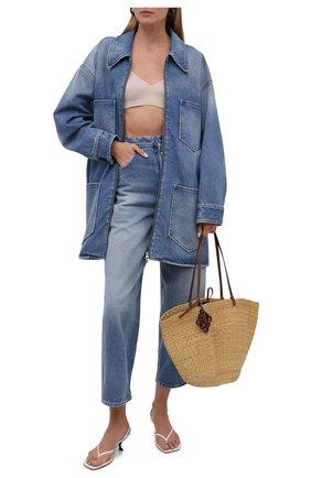 Женские джинсы MM6 голубого цвета, арт. S52LA0119/S30589   Фото 2